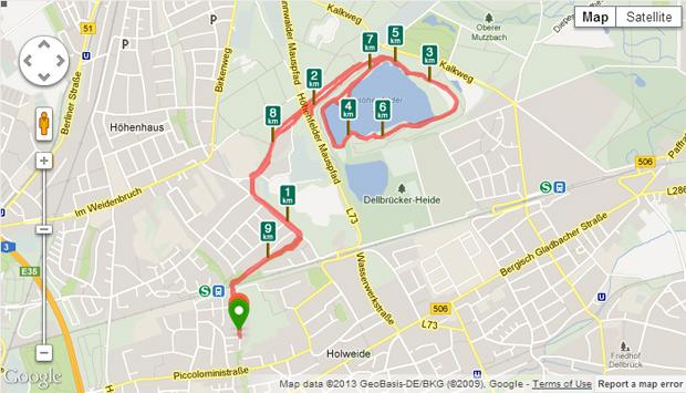 Knapp 10 km, nicht schlecht für das zweite Mal. Aber noch nicht ohne Pausen.