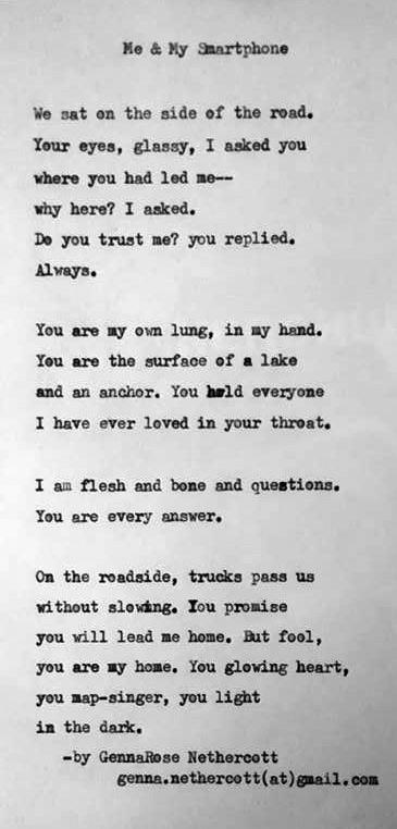 Daniel fotografierte das Gedichte und schickte es mir via Facebook.